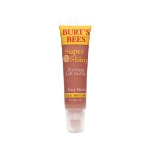 Burt's Lip Care Juicy Peach Super Shiny Natural Lip Gloss - 0.5 oz
