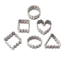 Wilton Mini Metal Cookie Cutters, 6/Pkg: Geometic Crinkle