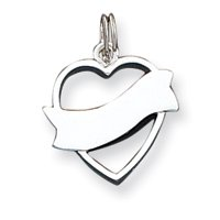 Sterling Silver Heart Charm QC4567