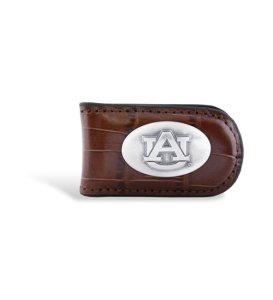 NCAA Auburn Tigers Tan Crocodile Leather Magnet Concho Money Clip, One Size at Amazon.com