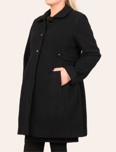 Motherhood+Maternity%3A+Button+Front+Wool+Maternity+Coat