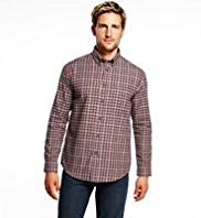 Blue Harbour Brushed Pure Cotton Checked Shirt