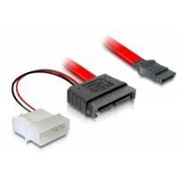 DeLock Kabel SATA Slimline Stecker + 2pin Power > SATA Netzkabel intern SATA 7+ 6 pol Stunden + 2 pol Strom Stunden auf SATA 7 pol 0.30 m