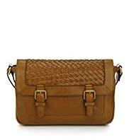 M&S Collection Leather Woven Mini Satchel Handbag