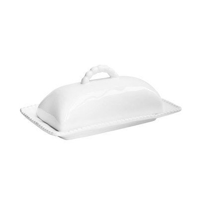 American Atelier Bettina Butter Dish with Lid, White (White Covered Butter Dish compare prices)