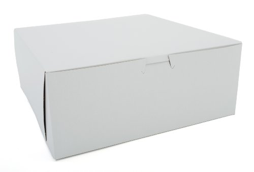 Southern Champion Tray 0973 Premium Clay-Coated Kraft Paperboard White Non-Window Lock Corner Bakery Box, 10