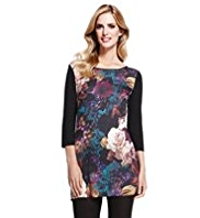 M&S Collection Oversized Floral Top