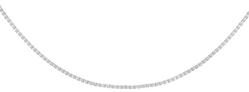 Bijoux pour tous Unisex-Kette 18 Karat (750) Weißgold 410 mm 7.16.0503