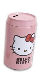 "Hello Kitty 7.5""H Tin Soda Penny Saving Bank"
