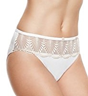 Rosie for Autograph Deco Embroidered High Leg Knickers