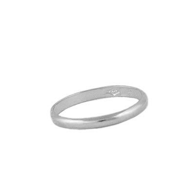 Infant And Baby Jewelry - Sterling Silver First Band Ring (Size 1)