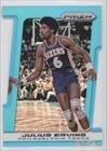 Julius Erving #3/199 Philadelphia 76ers (Basketball Card) 2013-14 Panini Prizm Light Blue Prizms Die-Cut #221