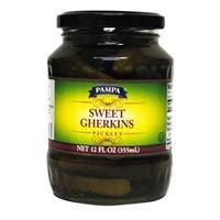 Pampa Pickles Sweet Gherkins 12 OZ (Pack of 12)