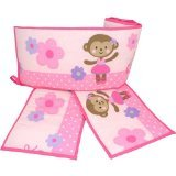 Carter's Child of Mine Ballerina Monkey Crib Bumper