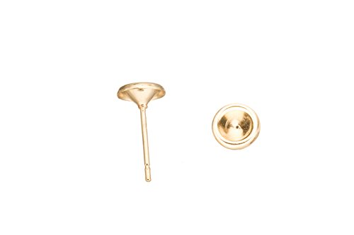 Cup Earstud, For Ss21 Zc And Rhinestones Fit On, 16K Gold-Finished Gold-Finished 6.8mm sold per pack of 20 (3pack bundle), SAVE $2