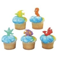 Sealife Friends Cupcake Pics - set of 12