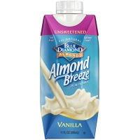 Blue Diamon Almond Breeze, Vanilla Unsweetened, 11 Oz (12 Pack)