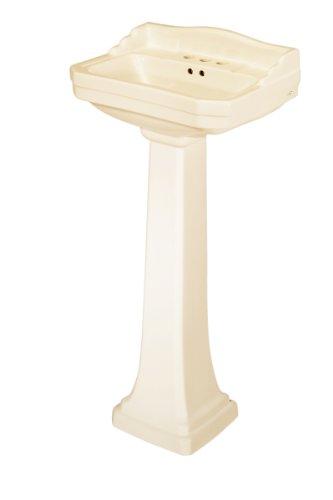 Pegasus FL-1920-4BI Series 1920 4-Inch Centerset Lavatory Sink Combo, Biscuit (Pedestal Sink With Backsplash compare prices)