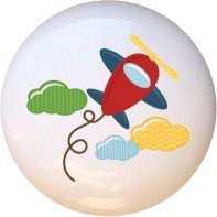 Ceramic Knob - Child Airplane - Airplanes Aviation (Airplane Dresser Knobs compare prices)