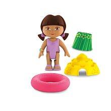Fisher-Price Dora The Explorer Window Surprises Dollhouse, Beach Party Dora Figure