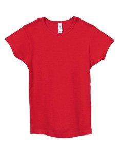 Girls' Baby Rib Short-Sleeve T-Shirt - Red - 10-12 Girls' Baby Rib Short-Sleeve T-Shirt front-966319