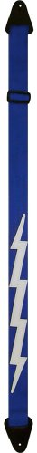 Perri'S Nylon Guitar Straps - Blue With Lightning