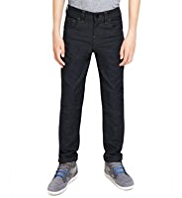 Pure Cotton Straight Leg Coated Jeans