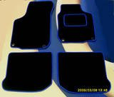VOLKSWAGEN VW LUPO (1999-2005) 2 FIXING CLIPS BLACK & BLUE TRIM TAILORED CAR FLOOR MATS - CUSTOM MADE