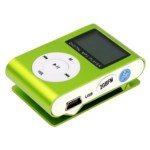 Stylish 0.8-inch LCD Clip-On 2GB MP3 Player with FM Radio(Green)