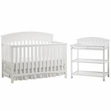 Exceptionnel Graco Charleston Classic Two Piece Convertible Crib Set Crib And Changing  Table WHITE