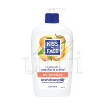 Kiss My Face Natural Body Moisturizer - Peaches & Creme - 16 oz