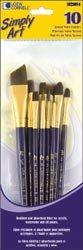 Bulk Buy: Loew-Cornell Simply Art Brown Nylon Brush Set 10/Pkg (3-Pack)