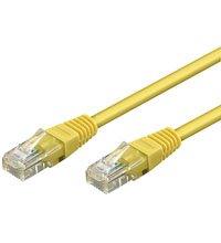 BIGtec 7,5m CAT.6 Ethernet LAN Patchkabel Gigabit Netzwerkkabel Patch Kabel gelb (RJ45, Cat 6, Twisted Pair UTP, 1000 Mbit/s) 2 x RJ45 Stecker ideal für Switch , DSL Verbindungen , Patchfelder , Patchpanel , Router , Modem , Access Point und andere Geräte mit RJ45 Anschluß ,CAT Kabel KAT Kabel CAT6
