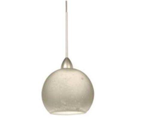 WAC Lighting  HM599WTPT Rhea  One Light Pendant, Platinum Finish with White Glass