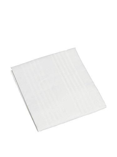 Ipersan Copricuscino c/cerniera bianco 52x83 cm in puro cotone fasciato di alta qualità irrestringibile Sanfor