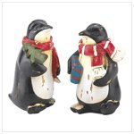 Holiday Penguin Figurines 12137 By Koehler front-5748