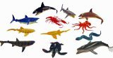 "~ 12 ~ Ocean Sea Animals Creatures ~ Plastic ~ up to 4.5"" L ~ NEW"