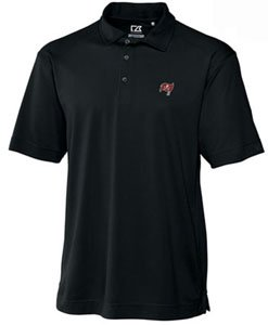Tampa Bay Buccaneers Mens Drytec Genre Polo Black by Cutter & Buck