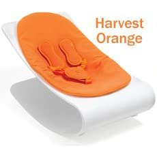 coco plexistyle baby lounger - White Frame - Harvest Orange