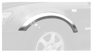 Putco 408612 Chrome Fender Molding