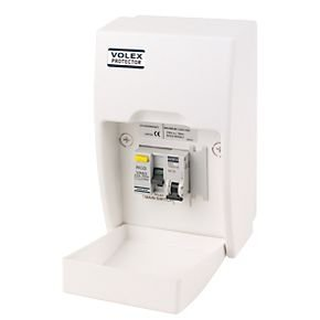 Volex Fully Insulated RCD Board Shower Unit