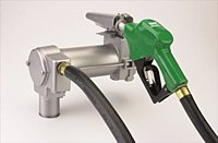 "Gpi M-3025-Ad Cast Iron Fuel Transfer Pump With Nozzle, 25 Gpm, 4/10 Hp, 1"" Npt"
