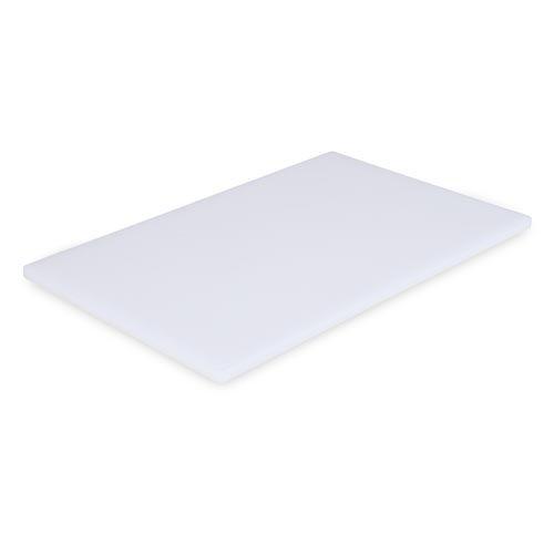 Clipper 215-00249 12-Inch by 18-Inch by 0.5-Inch Polyethylene Cutting Board, White