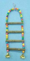 North American Pet BBO22778 Bob Nat Parrot Ladder with Beads, 23-Inch