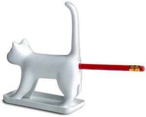 CAT butt PENCIL SHARPENER gag Novelty OFFICE desk gift