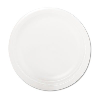 """Mediumweight Foam Dinnerware, Plates, 9"""" Diameter, White, 500/Carton by SOLO CUPS (Catalog Category: Office Maintenance, Janitorial & Lunchroom / Food & Beverage)"""