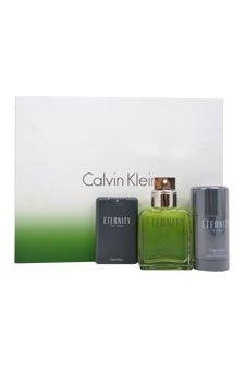 Most recent discounts on     Calvin Klein Cologne value price: Calvin Klein 3 Piece Set for Men, Eternity (3.4 Ounce Eau de Toilette Spray, 0.67 Ounce Eau de Toilette Spray, 2.6 Ounce Deodorant Alcohol Free)