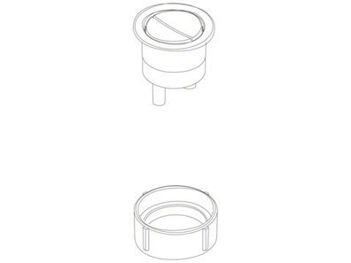 Kohler 1072961-Cp 1 1 Replacement Part Number 1 Is A Button Assembly Button Assembly Dual Flush, Polishe Chrome Finish front-622512