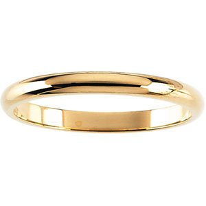 02.00 Mm 10K Yellow Gold Half Round Band
