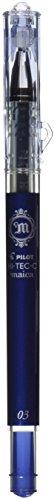Pilot Hi-Tec-C maica 0.3mm Extra Fine Point Ballpoint Pen Blue Black